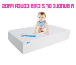 Waterproof Hypoallergenic Fitted Crib Toddler Pad Protector